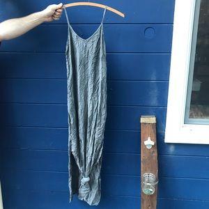 Grey boho maxi dress